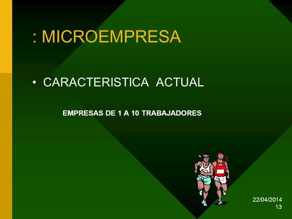 : MICROEMPRESA CARACTERISTICA ACTUAL EMPRESAS DE 1 A 10 TRABAJADORES