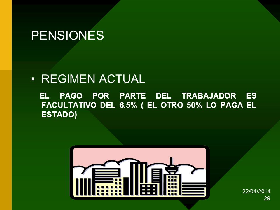 PENSIONES REGIMEN ACTUAL