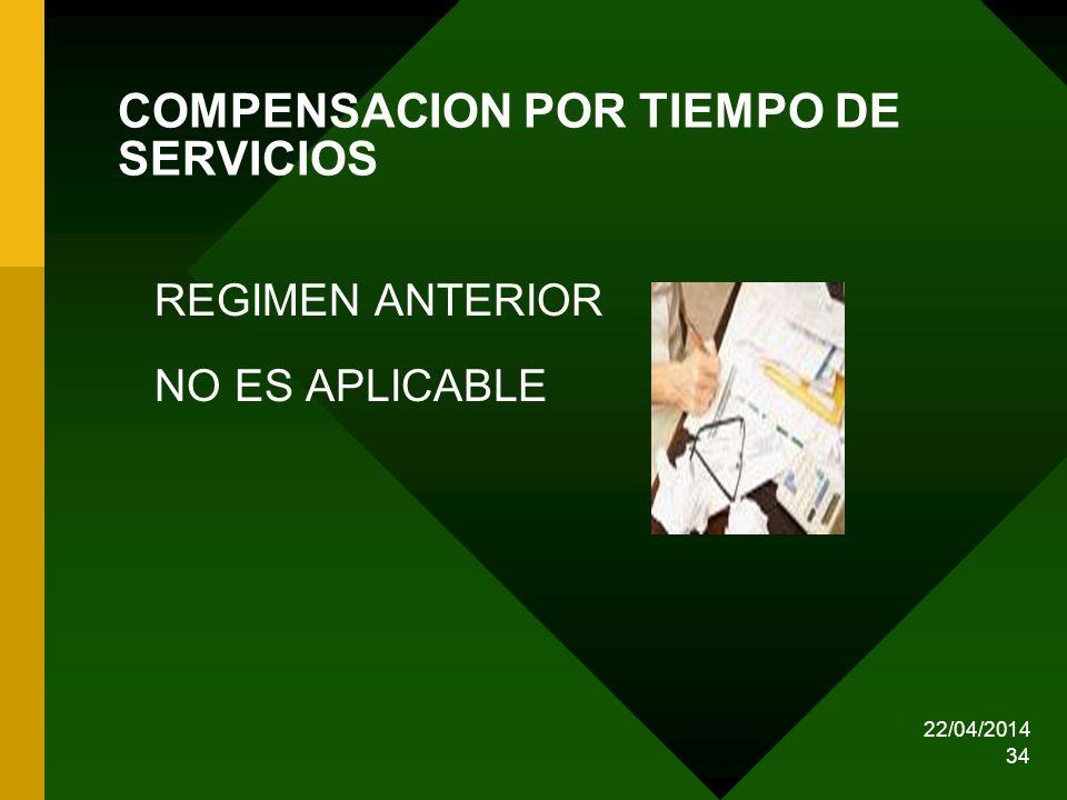 COMPENSACION POR TIEMPO DE SERVICIOS