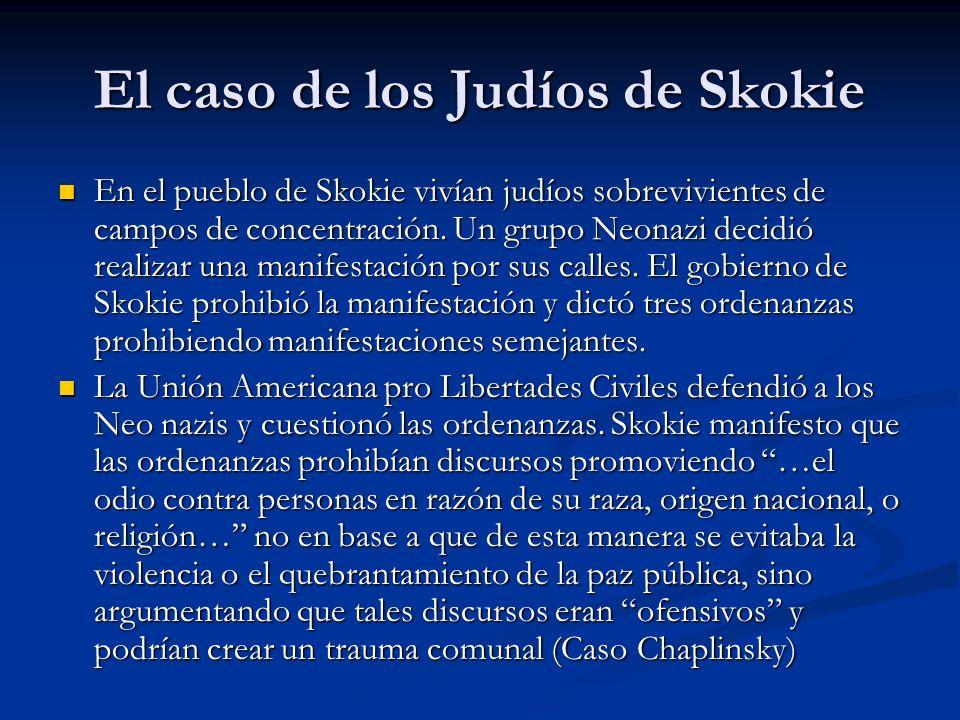 El caso de los Judíos de Skokie