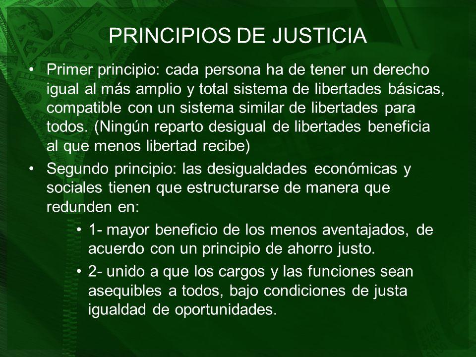 PRINCIPIOS DE JUSTICIA