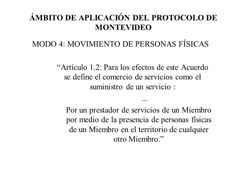 ÁMBITO DE APLICACIÓN DEL PROTOCOLO DE MONTEVIDEO