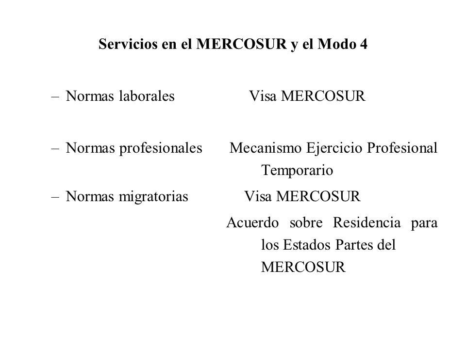 Servicios en el MERCOSUR y el Modo 4