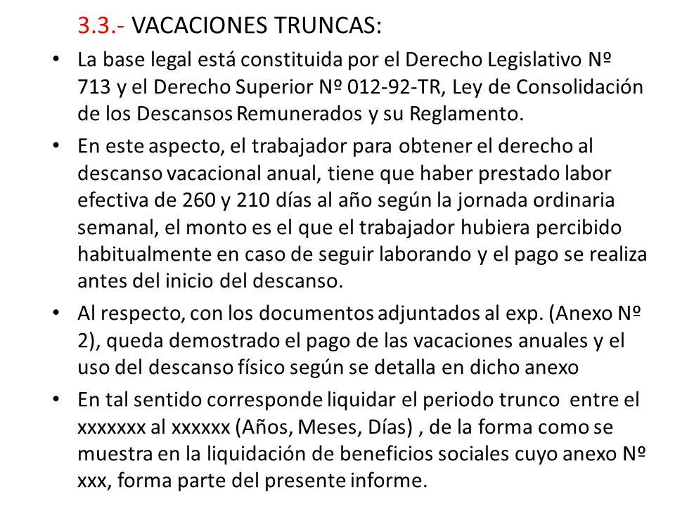 3.3.- VACACIONES TRUNCAS:
