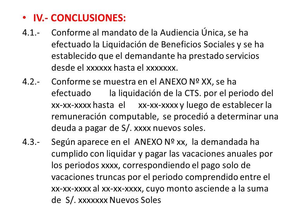 IV.- CONCLUSIONES: