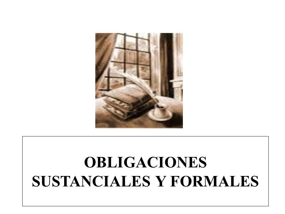 OBLIGACIONES SUSTANCIALES Y FORMALES