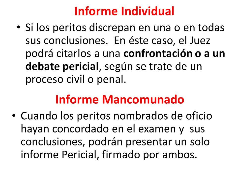Informe Individual Informe Mancomunado