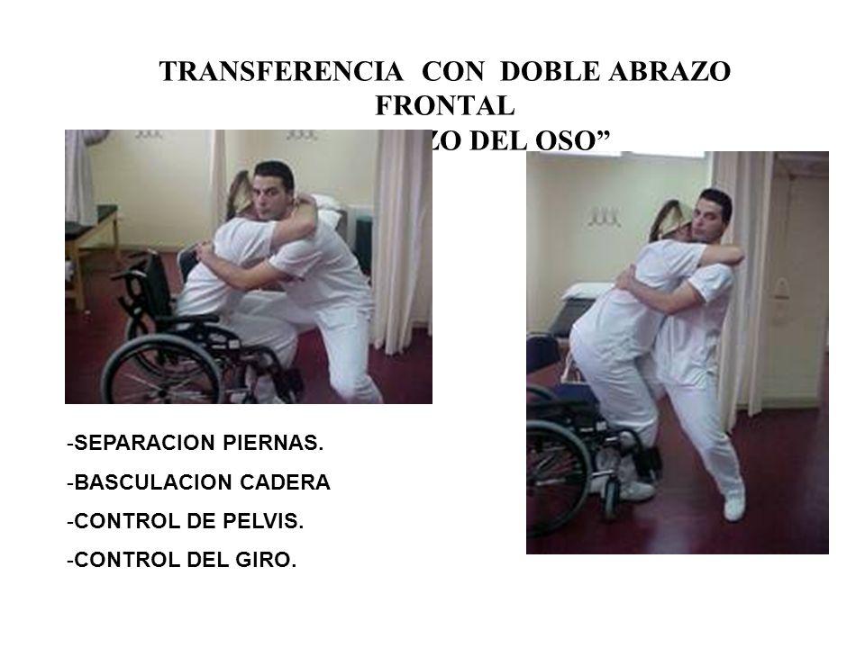 TRANSFERENCIA CON DOBLE ABRAZO FRONTAL EL ABRAZO DEL OSO