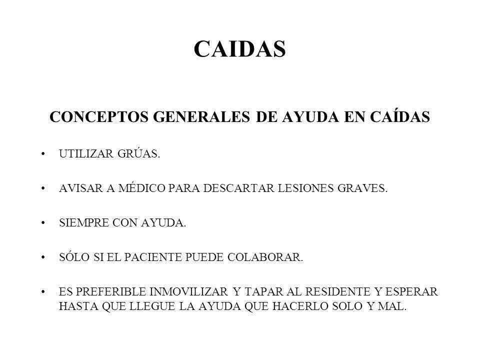 CONCEPTOS GENERALES DE AYUDA EN CAÍDAS