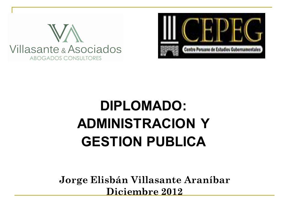DIPLOMADO: ADMINISTRACION Y GESTION PUBLICA