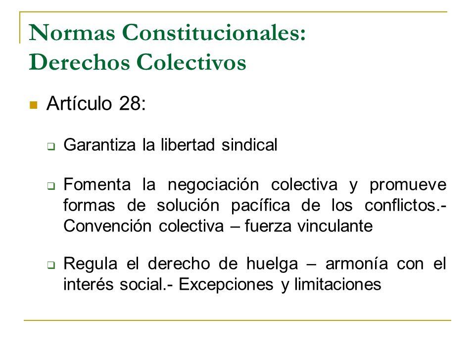 Normas Constitucionales: Derechos Colectivos
