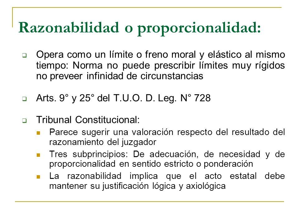 Razonabilidad o proporcionalidad: