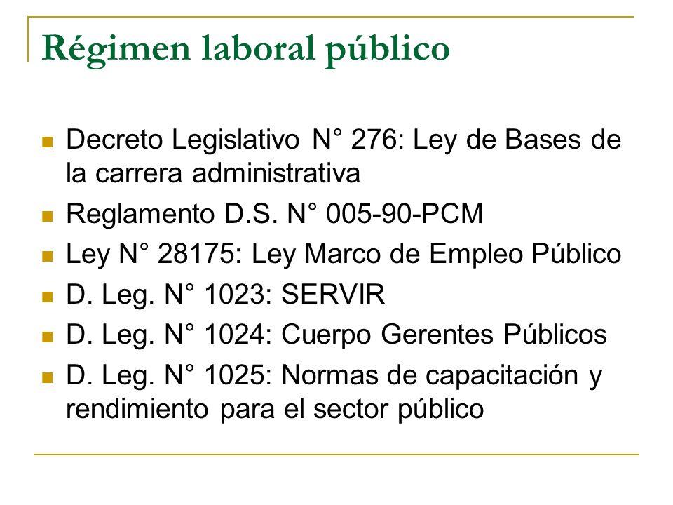 Régimen laboral público