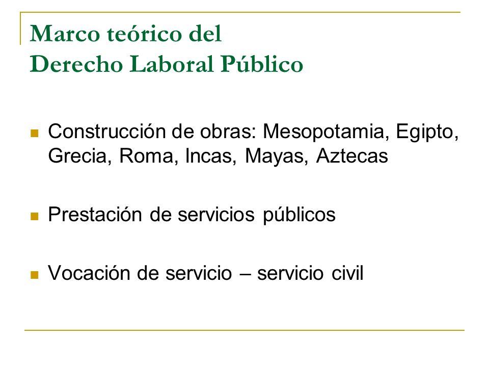 Marco teórico del Derecho Laboral Público