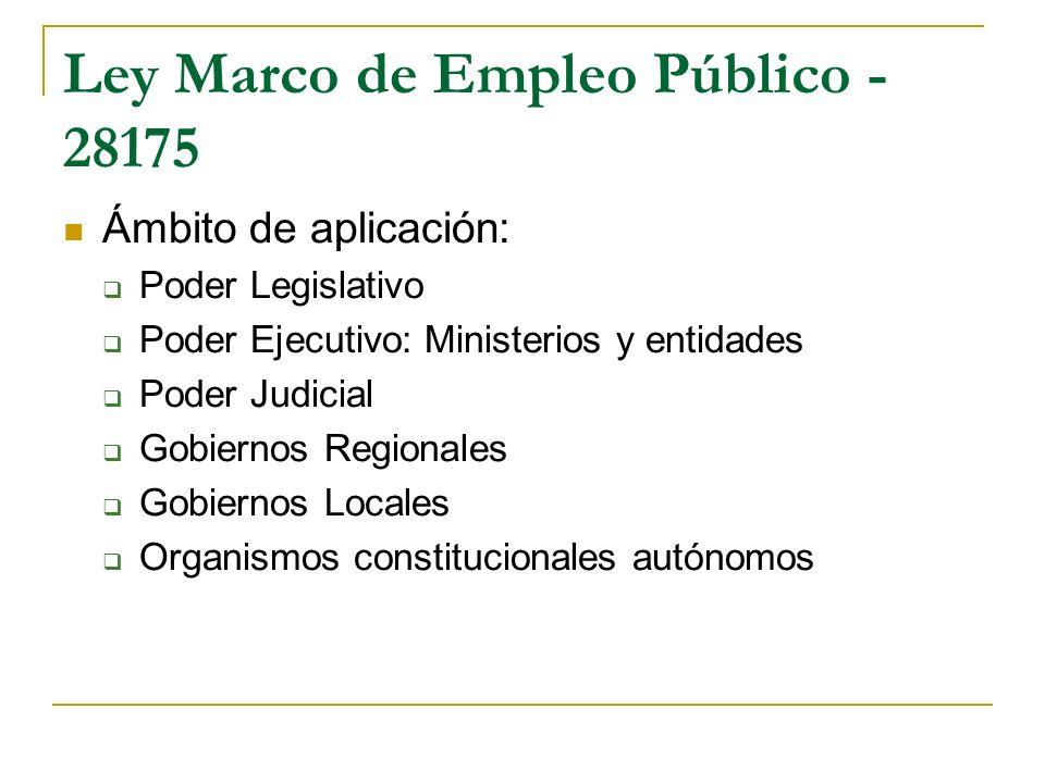 Ley Marco de Empleo Público - 28175