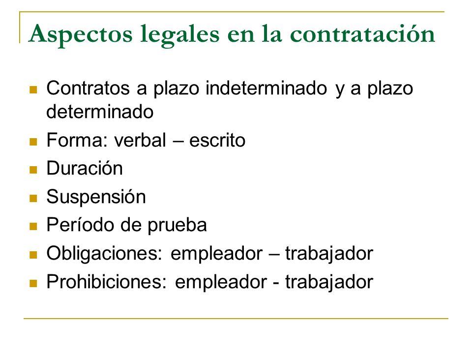 Aspectos legales en la contratación