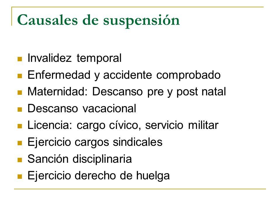 Causales de suspensión