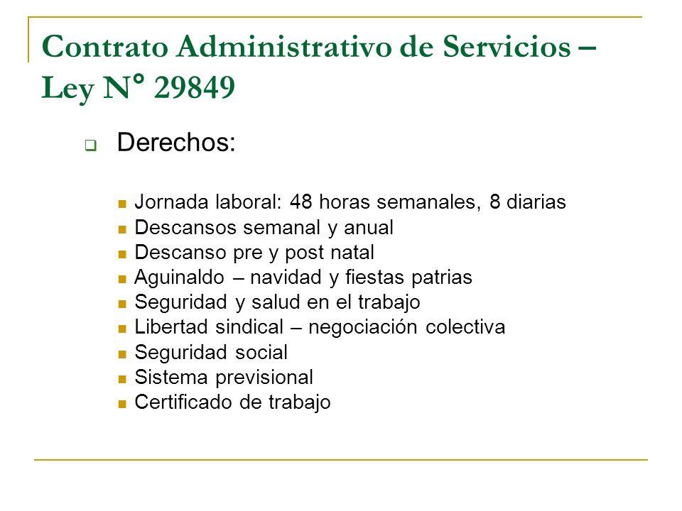 Contrato Administrativo de Servicios – Ley N° 29849