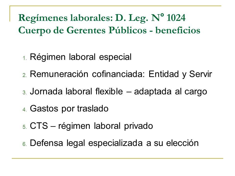 Régimen laboral especial Remuneración cofinanciada: Entidad y Servir