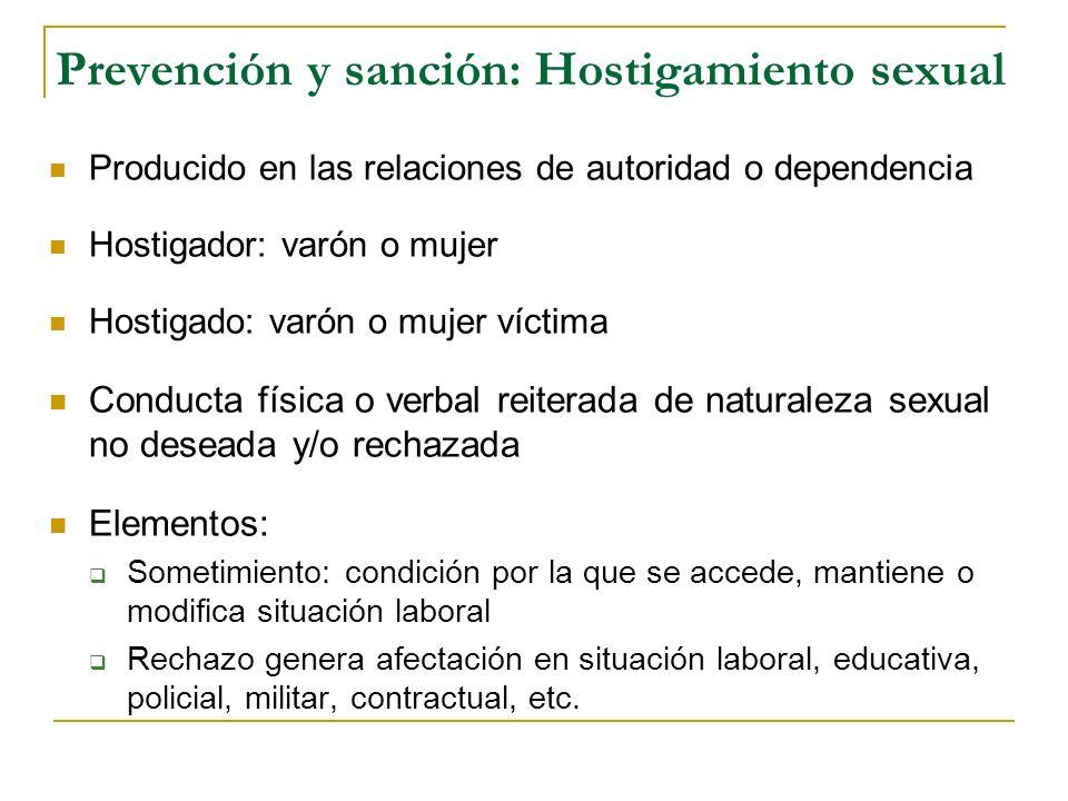 Prevención y sanción: Hostigamiento sexual