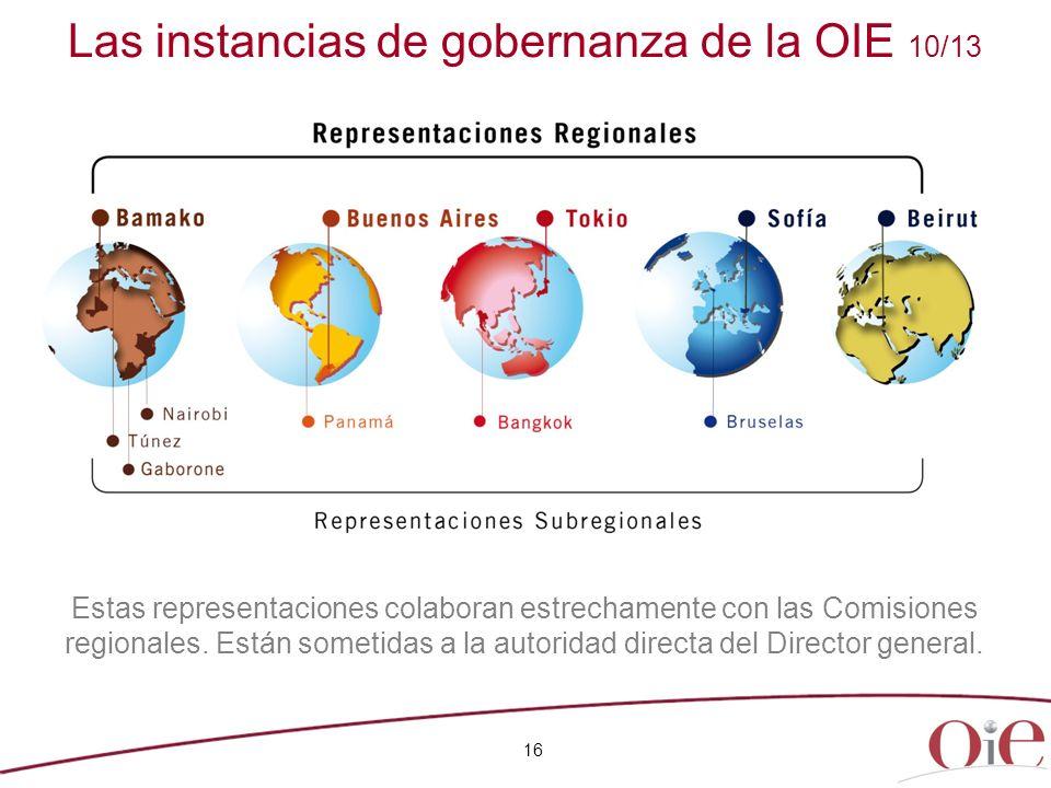 Las instancias de gobernanza de la OIE 10/13