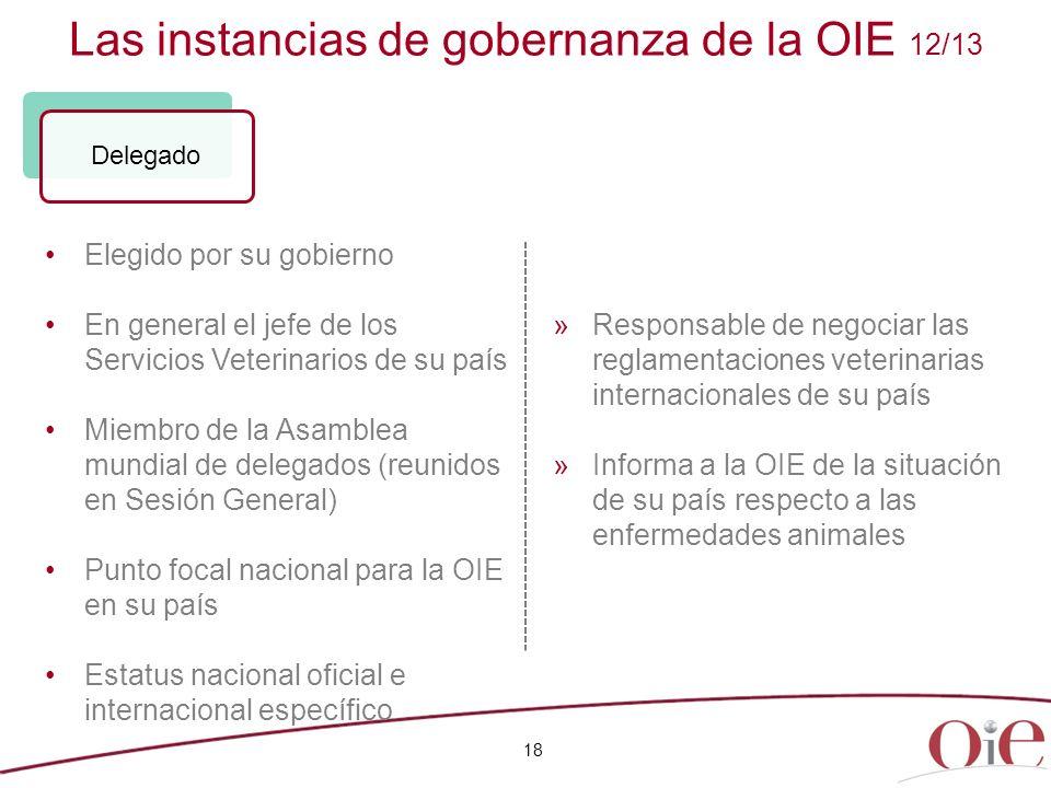 Las instancias de gobernanza de la OIE 12/13