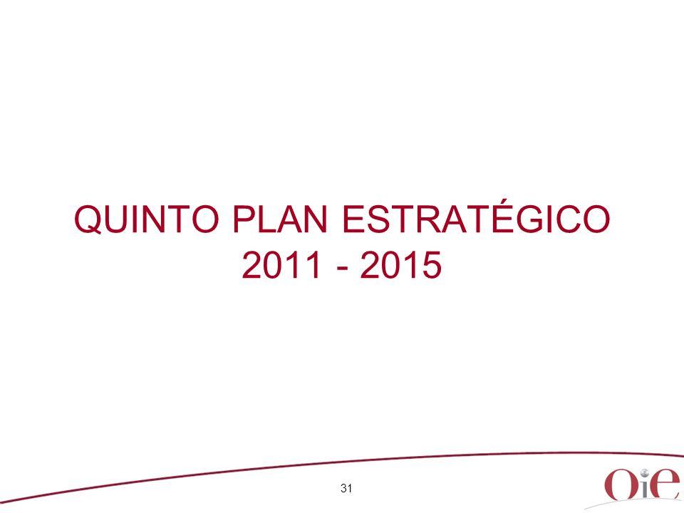 QUINTO PLAN ESTRATÉGICO 2011 - 2015