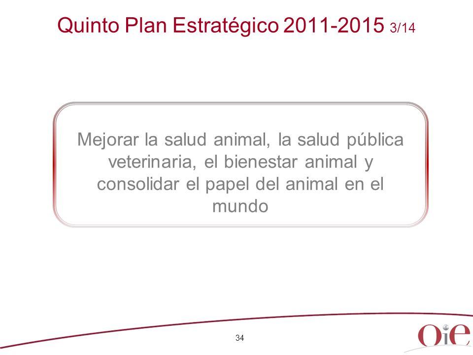 Quinto Plan Estratégico 2011-2015 3/14