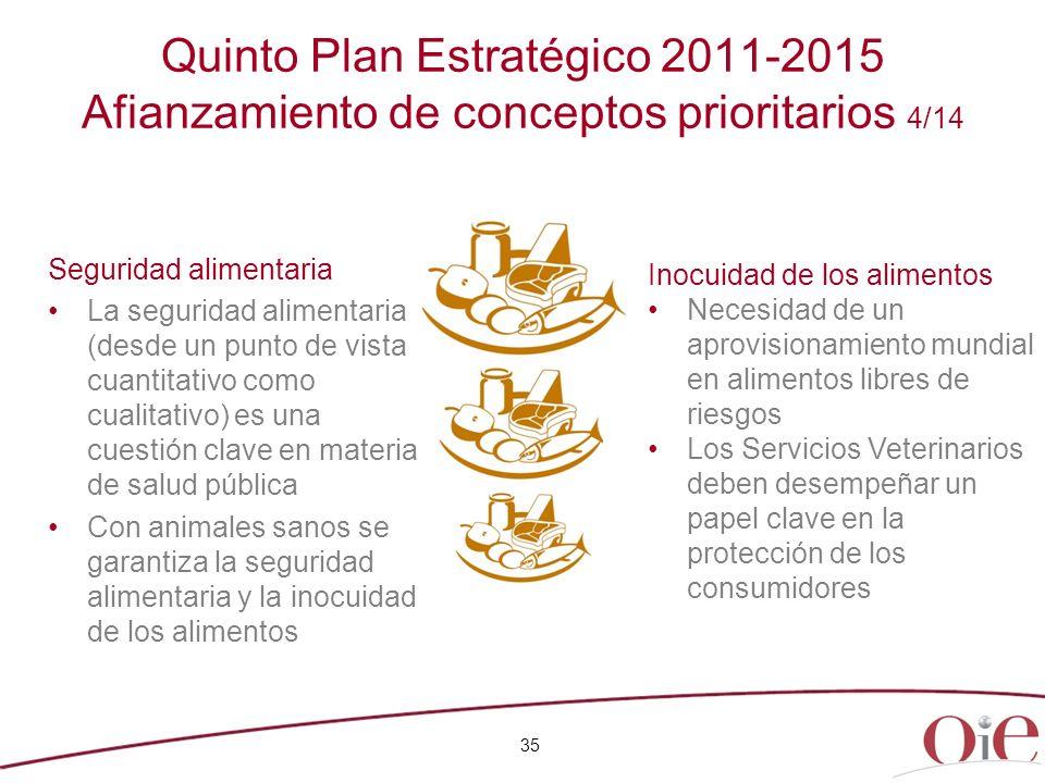 Quinto Plan Estratégico 2011-2015 Afianzamiento de conceptos prioritarios 4/14