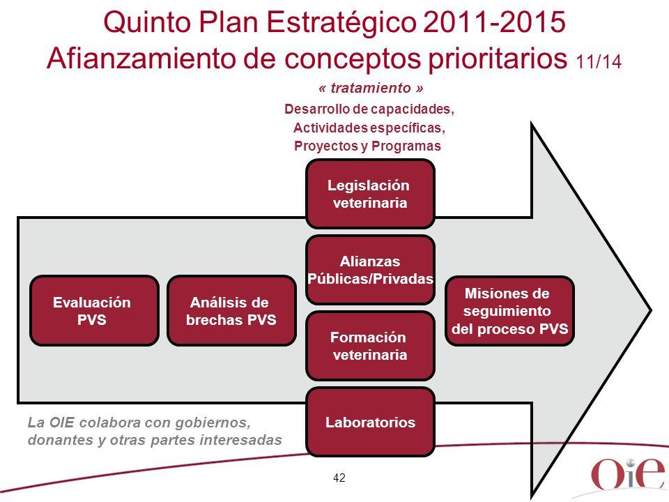 Quinto Plan Estratégico 2011-2015 Afianzamiento de conceptos prioritarios 11/14