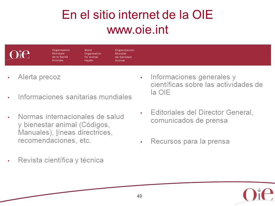 En el sitio internet de la OIE www.oie.int