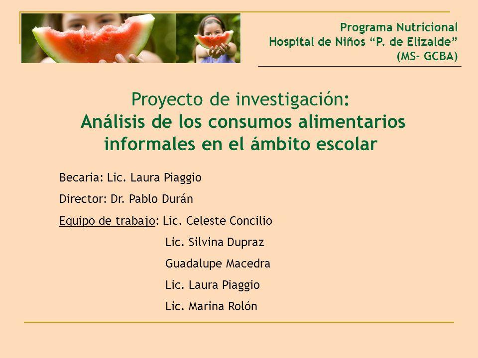 Programa Nutricional Hospital de Niños P. de Elizalde (MS- GCBA)