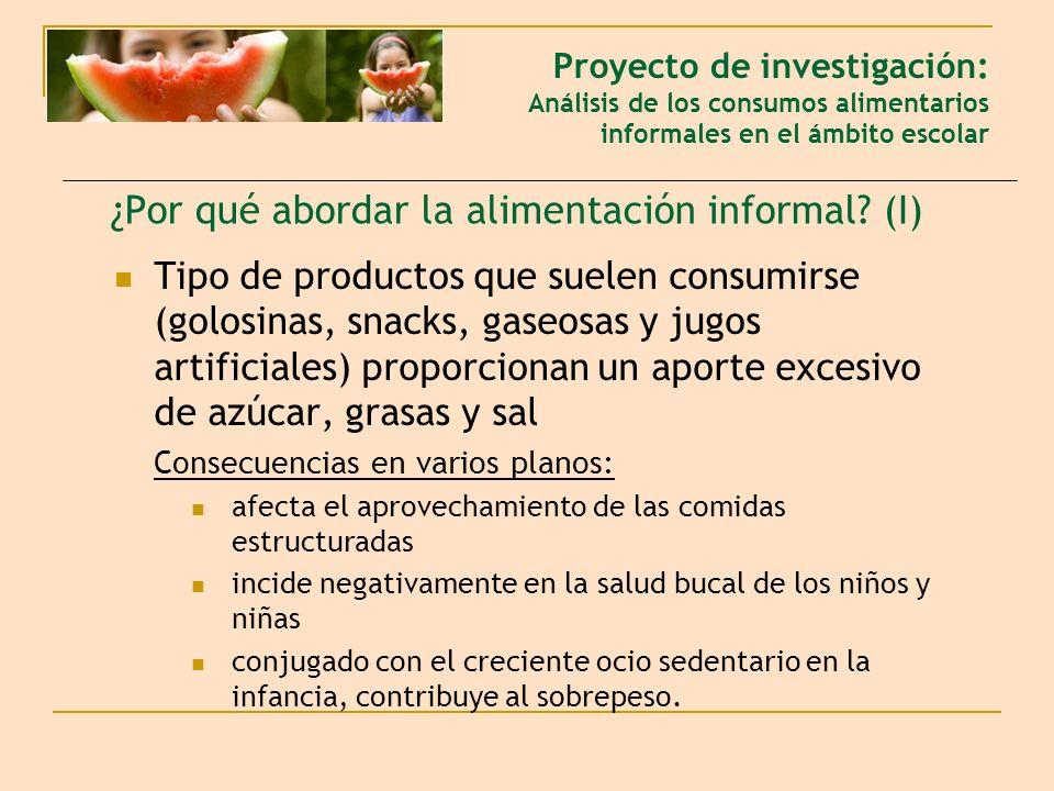¿Por qué abordar la alimentación informal (I)