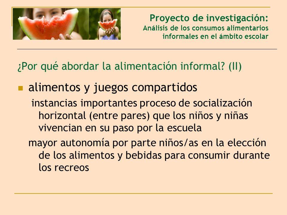 ¿Por qué abordar la alimentación informal (II)