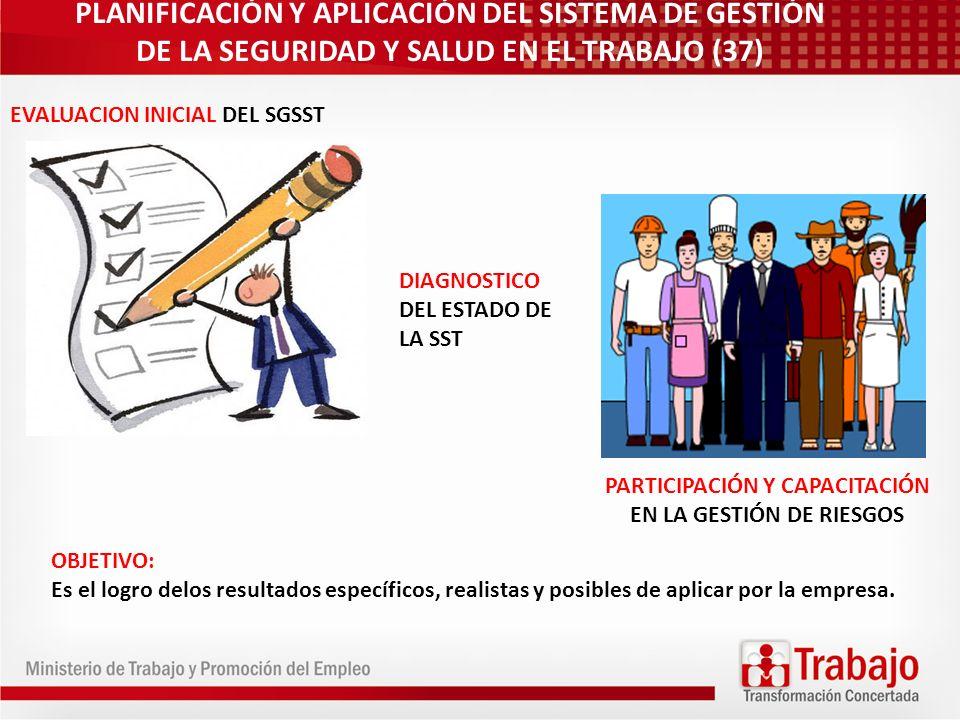 PARTICIPACIÓN Y CAPACITACIÓN EN LA GESTIÓN DE RIESGOS