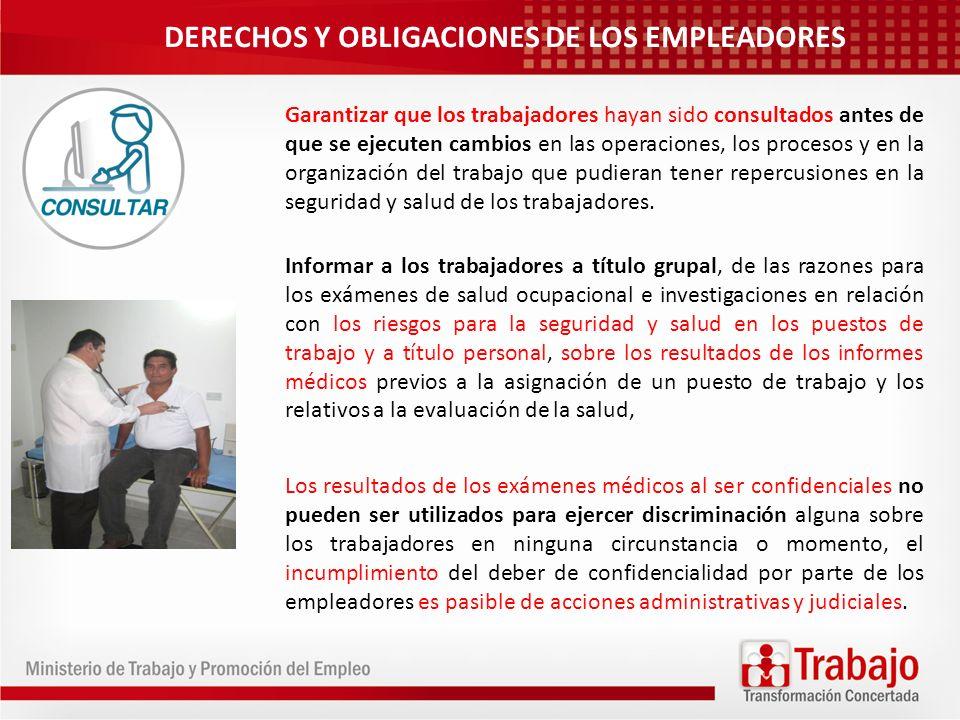 DERECHOS Y OBLIGACIONES DE LOS EMPLEADORES
