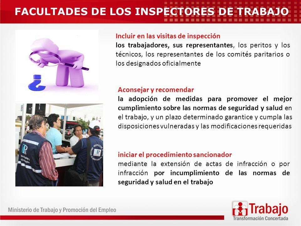 FACULTADES DE LOS INSPECTORES DE TRABAJO
