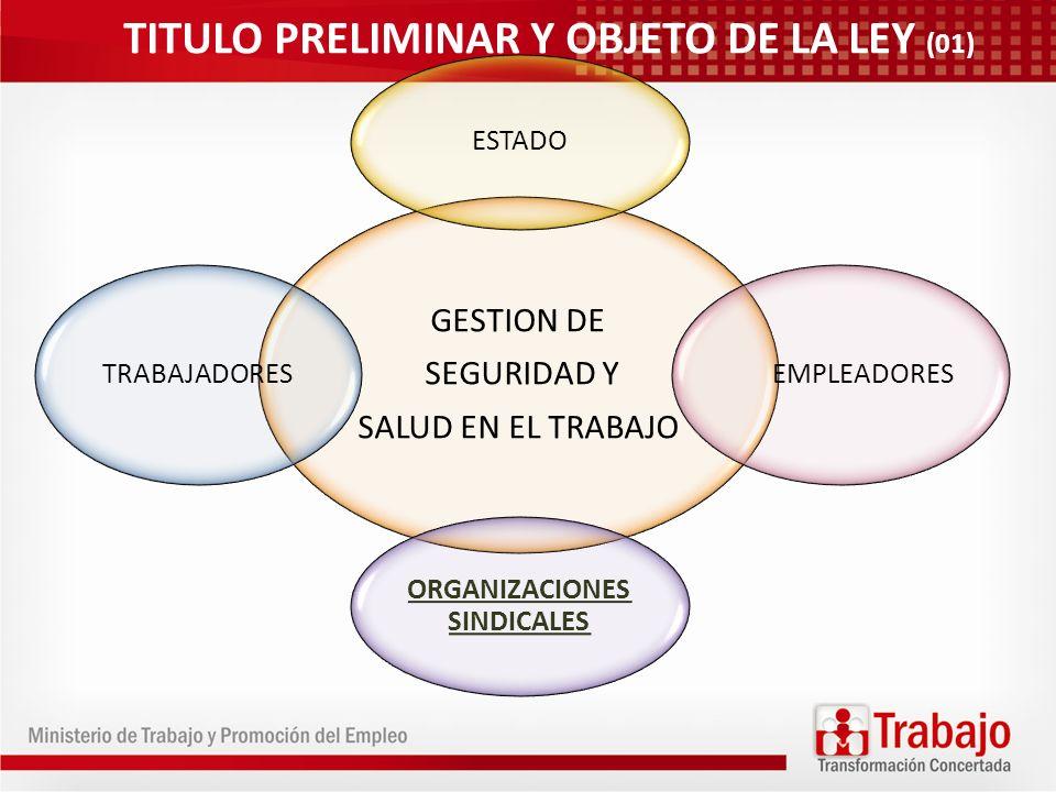 TITULO PRELIMINAR Y OBJETO DE LA LEY (01)
