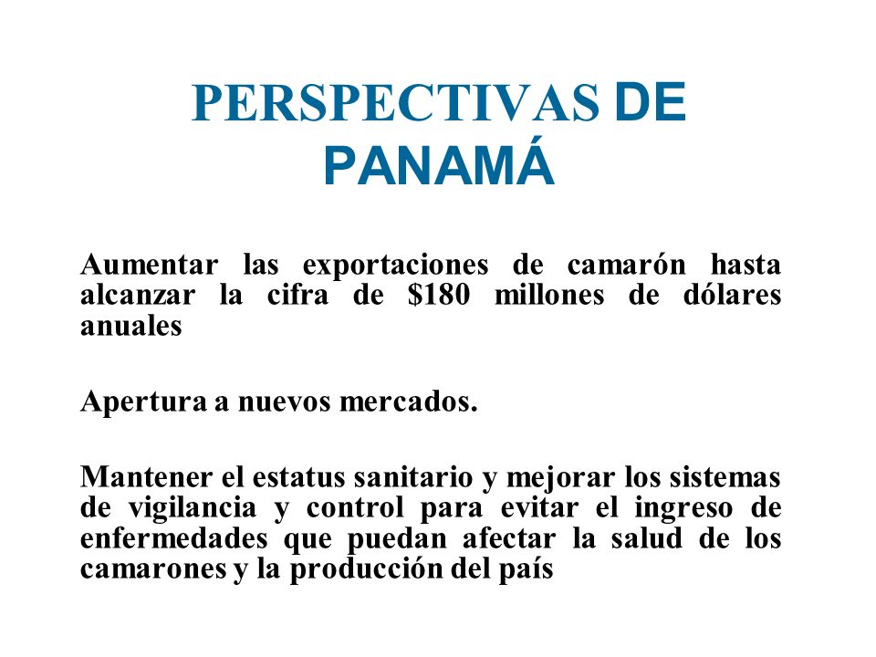 PERSPECTIVAS DE PANAMÁ