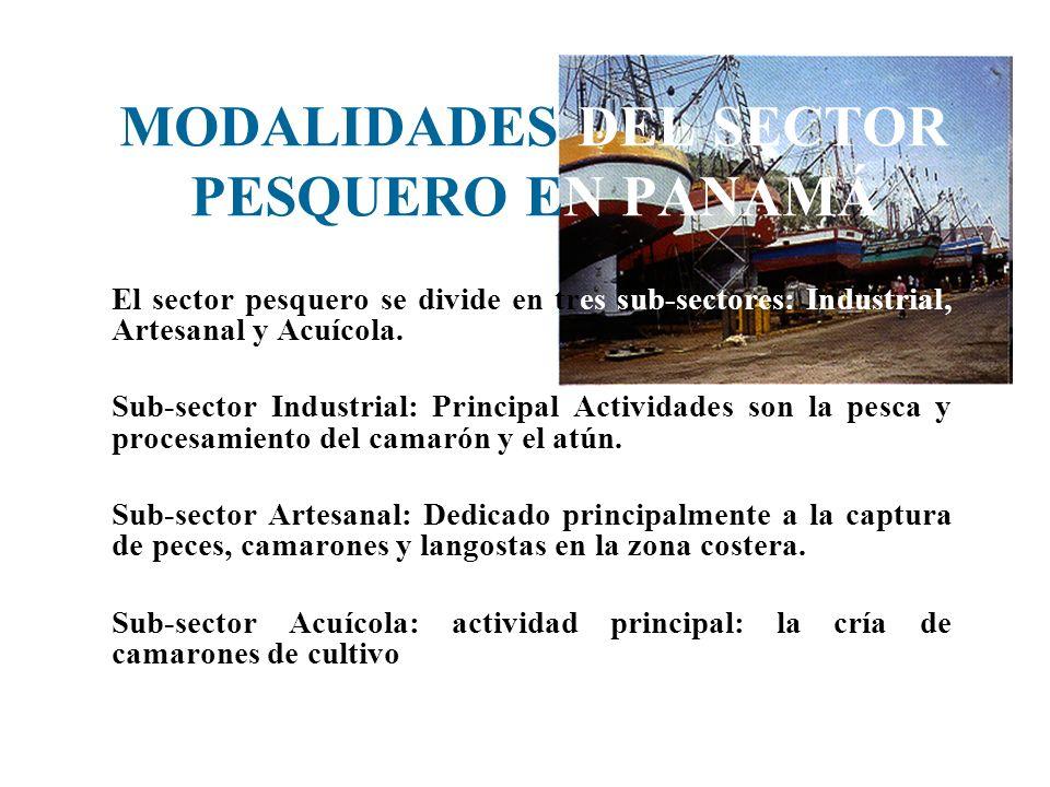 MODALIDADES DEL SECTOR PESQUERO EN PANAMÁ