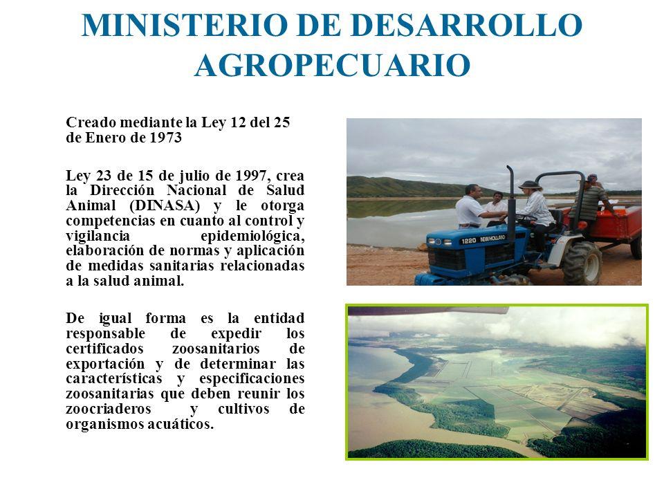 MINISTERIO DE DESARROLLO AGROPECUARIO