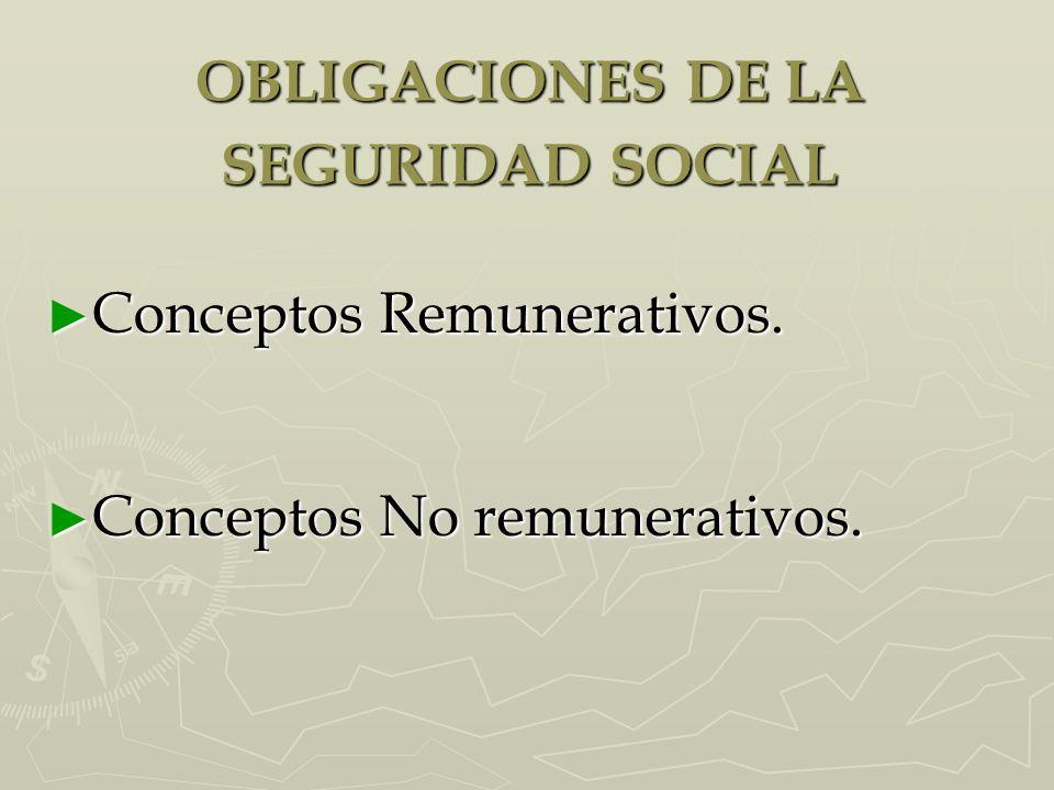 OBLIGACIONES DE LA SEGURIDAD SOCIAL