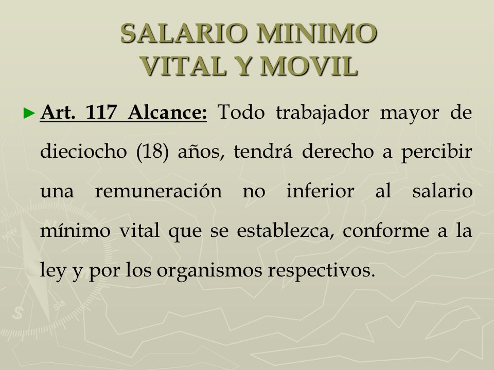 SALARIO MINIMO VITAL Y MOVIL