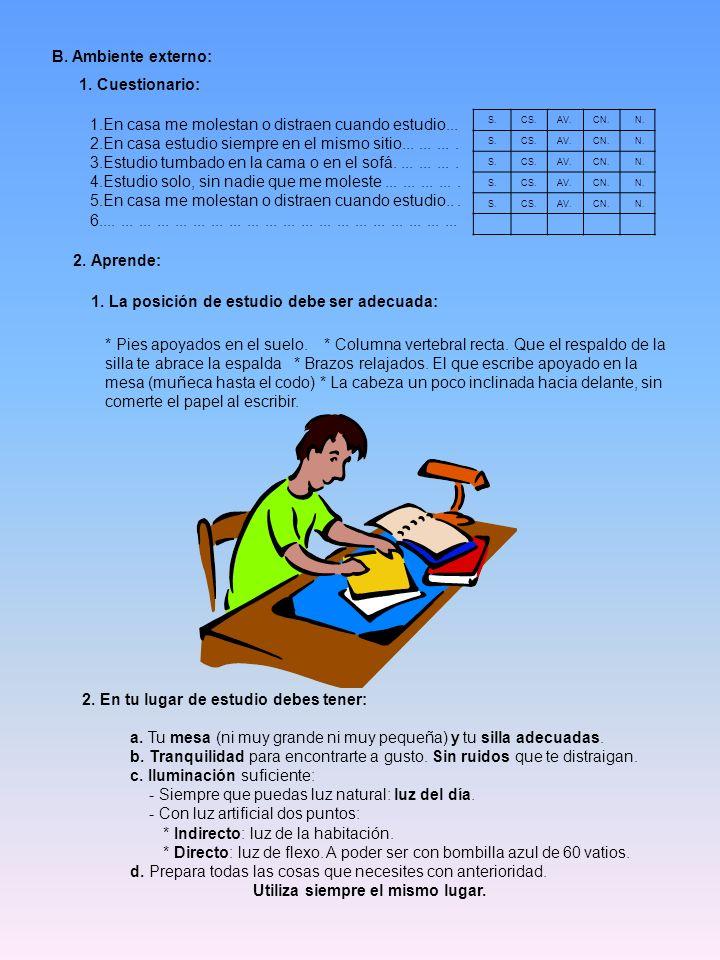 2. Aprende: B. Ambiente externo: 1. Cuestionario:
