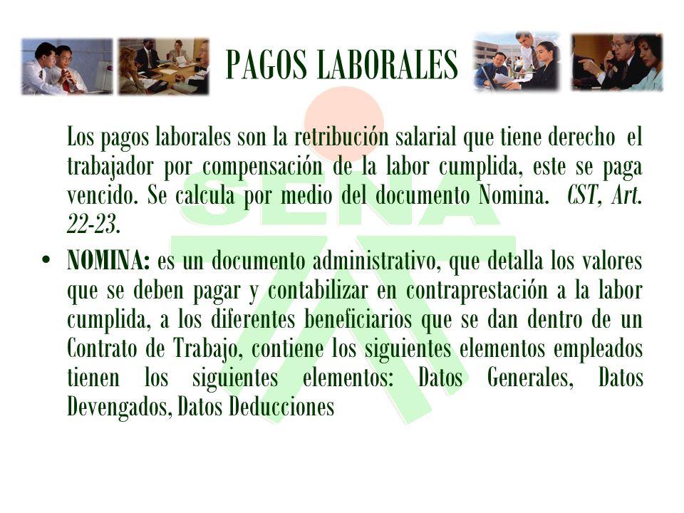 PAGOS LABORALES
