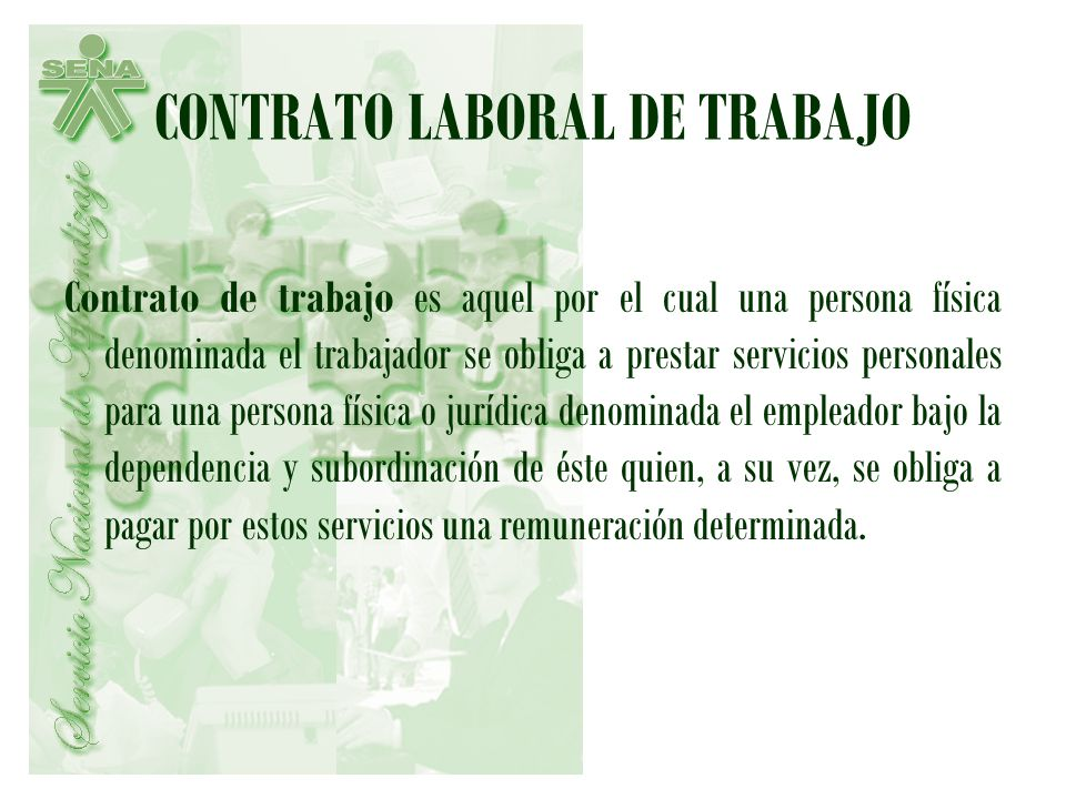 CONTRATO LABORAL DE TRABAJO