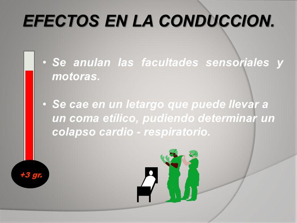 EFECTOS EN LA CONDUCCION.