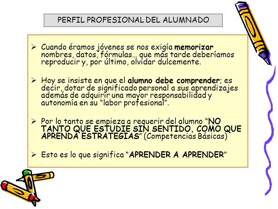 PERFIL PROFESIONAL DEL ALUMNADO
