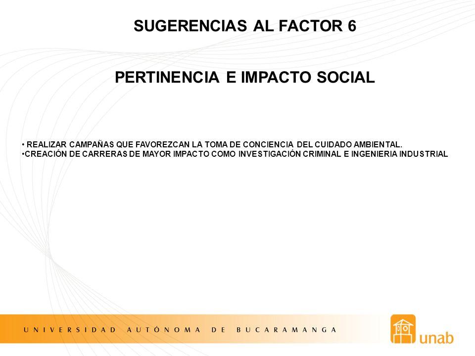 PERTINENCIA E IMPACTO SOCIAL