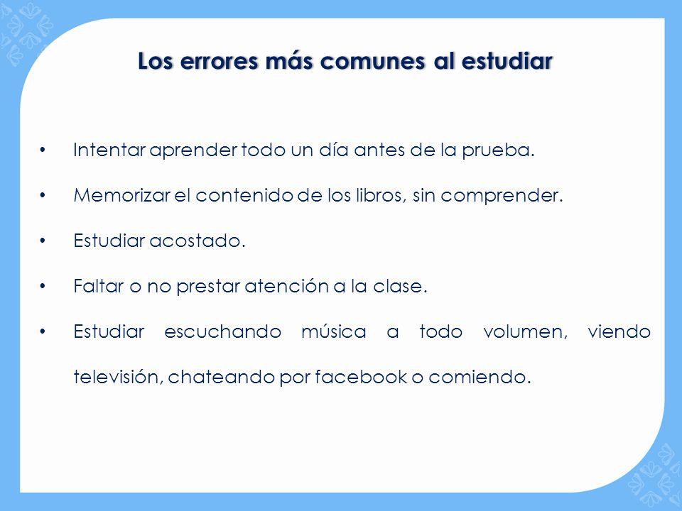 Los errores más comunes al estudiar